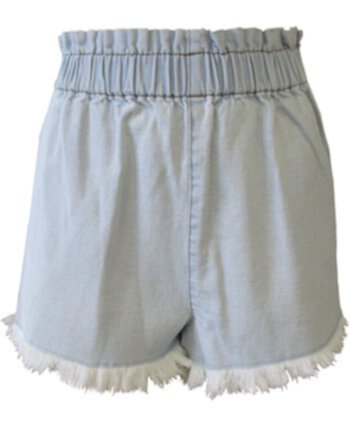 Juniors' Pull-On Frayed Denim Shorts Tinseltown