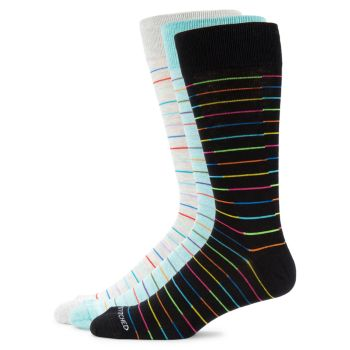 3-Pair Crew Socks Unsimply Stitched