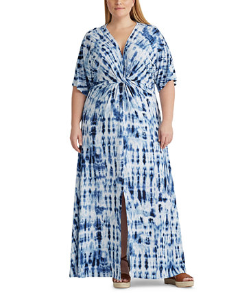 Plus Size Linen Maxidress Ralph Lauren