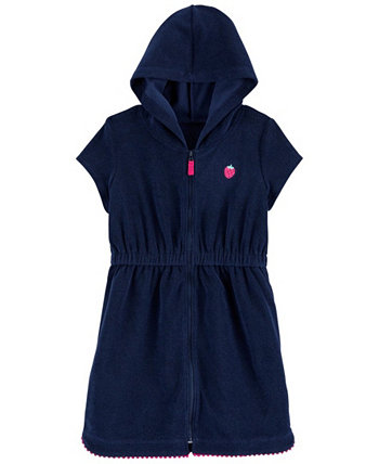 Little Girls Strawberry Hooded Cover Up Carters