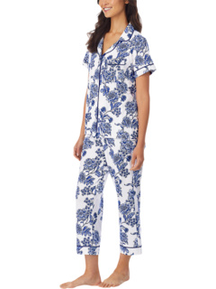 Plus Size Organically Grown Cotton Elastane Short Sleeve Cropped PJ Set BedHead Pajamas