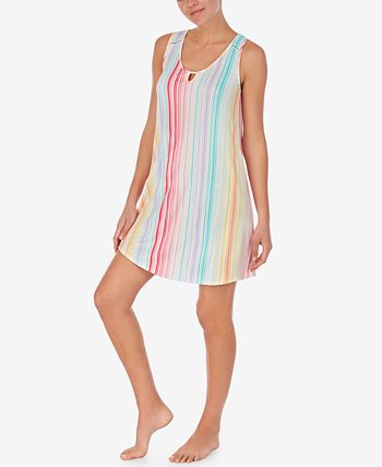 Lace-Trim Printed Chemise Nightgown Cuddl Duds
