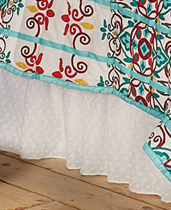 Eyelet Twin Bed Skirt HiEnd Accents