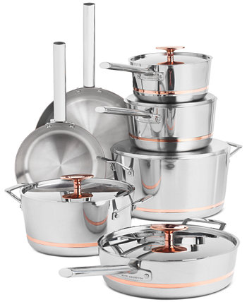 12-Pc. Stainless Steel with Copper Core Cookware Set, Created for Macy's Hotel Collection