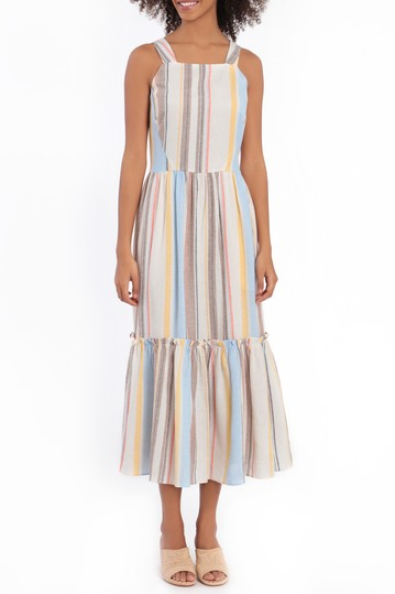 Striped Midi Dress Maggy London