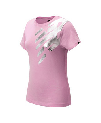 Big Girls Metallic Logo T-Shirt New Balance
