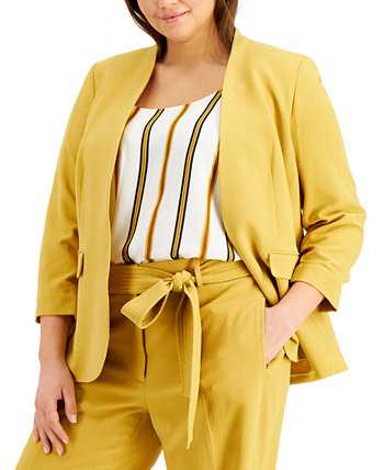 Trendy Plus Size Open-Front Jacket, Created for Macy's Bar III