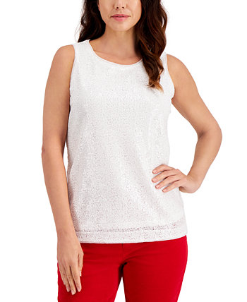 Sequined Tank Top, Created for Macy's Charter Club