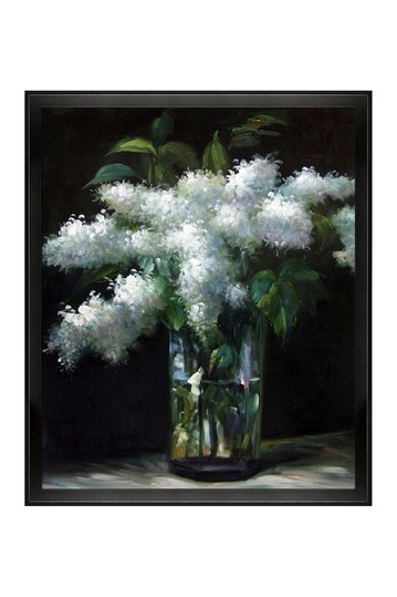 "Lilacs in a Vase with Studio Black Wood Angle Frame , 22.5"" x 26.5"" No brands"