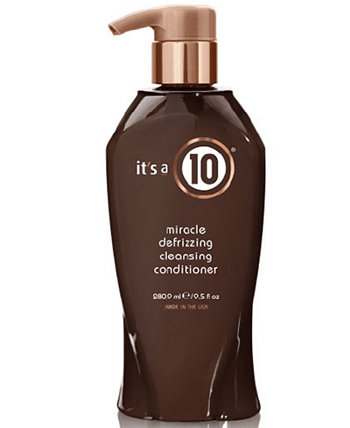 Miracle Defrizzing Cleansing Conditioner, 9.5-oz., from PUREBEAUTY Salon & Spa ITS A 10