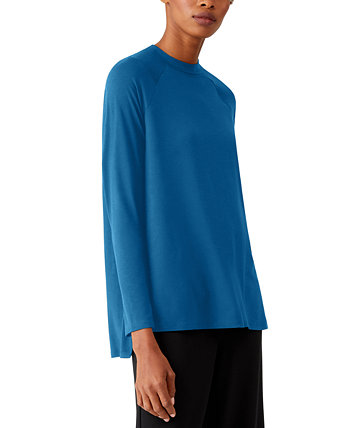 Side-Vent Crewneck Top Eileen Fisher