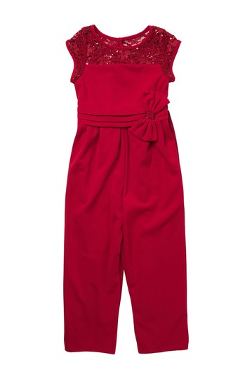 Side Bow Jumpsuit (Big Girls) GERSON & GERSON