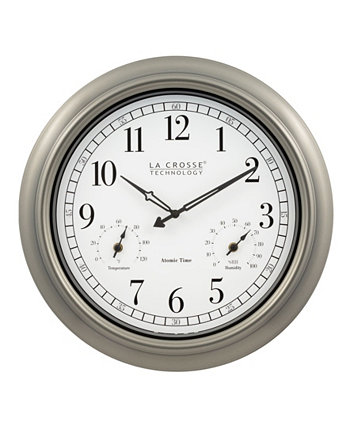 "404-1946 18"" Indoor or Outdoor Atomic Plastic Analog Wall Clock La Crosse Technology"