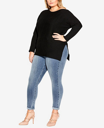 Plus Size Lean In Jumper City Chic