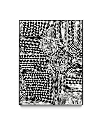 "Clustered Dots a Oversized Framed Canvas, 40"" x 60"" Giant Art"