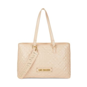 Quilted Logo Tote LOVE Moschino