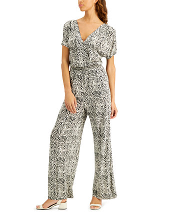 INC Petite Printed Smocked-Waist Jumpsuit, Created for Macy's INC International Concepts