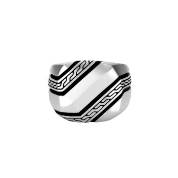 Classic Chain Sterling Silver Signet Ring JOHN HARDY