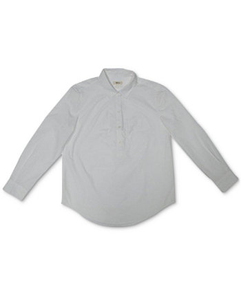 Petite Cotton Popover Shirt, Created for Macy's Style & Co