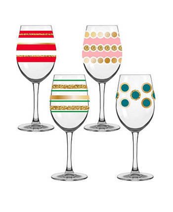 Whimsical Everyday Glassware, Set of 4 Qualia Glass