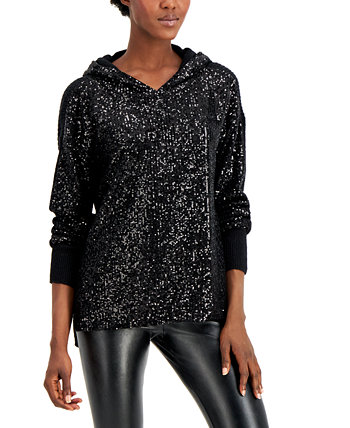 INC Plus Size Sequin Hoodie, Created for Macy's INC International Concepts