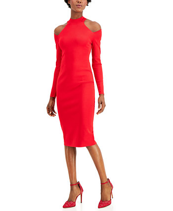 INC Petite Cold-Shoulder Sweater Dress, Created for Macy's INC International Concepts