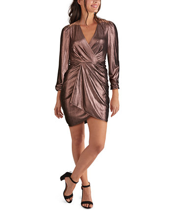 Draped Metallic Bodycon Dress GUESS
