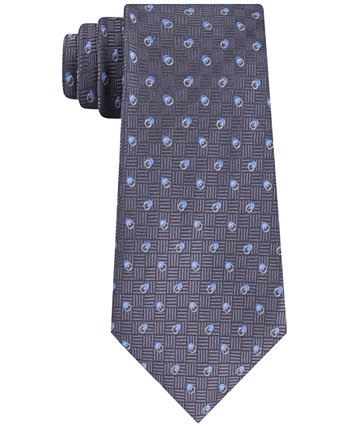 Men's Cross-Hatch and Dots Tie Michael Kors