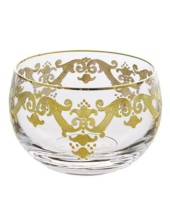 Small Glass Bowl With 24K Gold Artwork Classic Touch