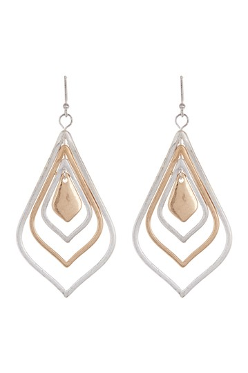 Silver Gold Tear Drop Earrings AREA STARS