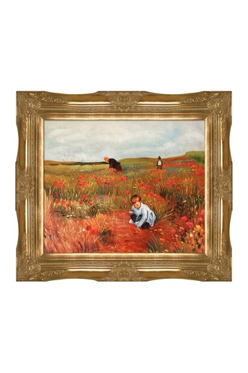 Les Coquelicots by Mary Cassatt Framed Canvas Painting No brands