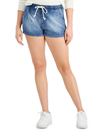 Juniors' Pull-On Jean Shorts Celebrity Pink