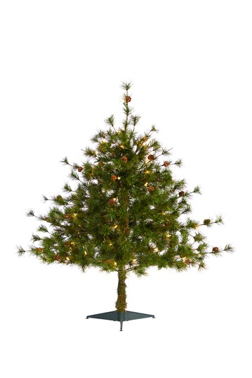 3ft. Colorado Mountain Pine Artificial Christmas Tree with 50 Clear Lights & Pine Cones NEARLY NATURAL