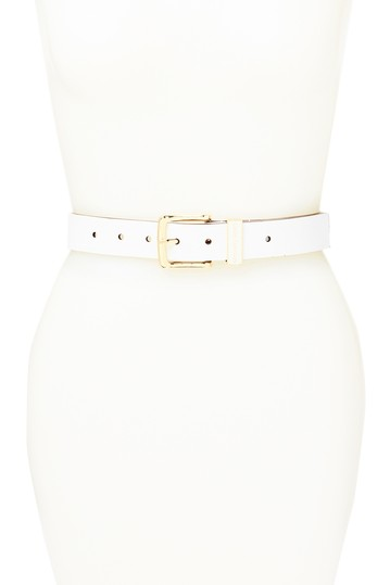 Enamel Keeper Leather Belt Michael Kors
