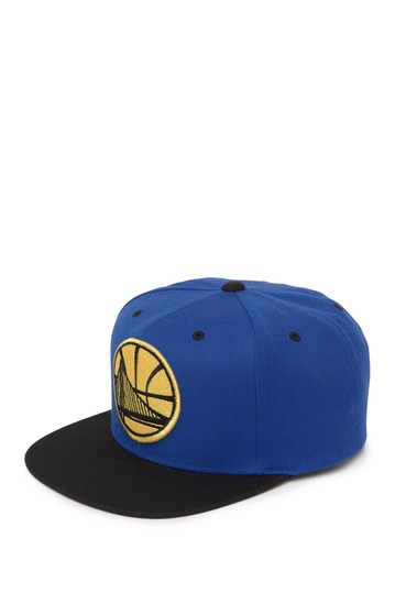 Golden State Warriors Flat Brim Cap Mitchell & Ness