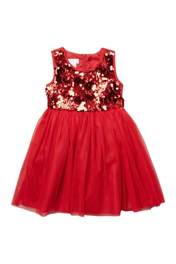 Sequin & Mesh Sleeveless Party Dress (Little Girls) GERSON & GERSON