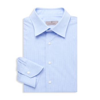 Plaid Modern-Fit Dress Shirt Canali