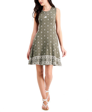 Petite Border-Print Flip-Flop Dress, Created for Macy's Style & Co