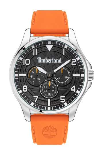 Men's Multifunction Silicone Strap Watch Timberland