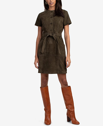 Penny Belted Suede Mini Dress Trina Turk