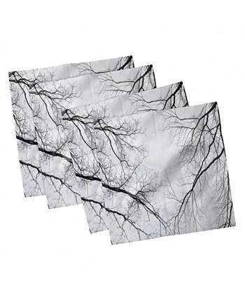 """Forest Set of 4 Napkins, 18"""" x 18"""" Ambesonne"""