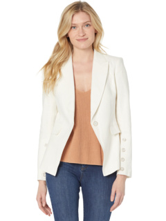 Front Button Sleeve Peak Lapel Jacket Tahari by ASL