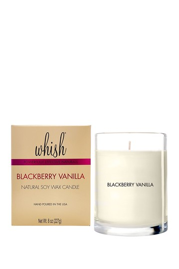 Natural Soy Wax Candle, Blackberry Vanilla, 8oz Whish