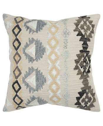 """Geometric Polyester Filled Decorative Pillow, 20"""" x 20"""" Rizzy Home"""