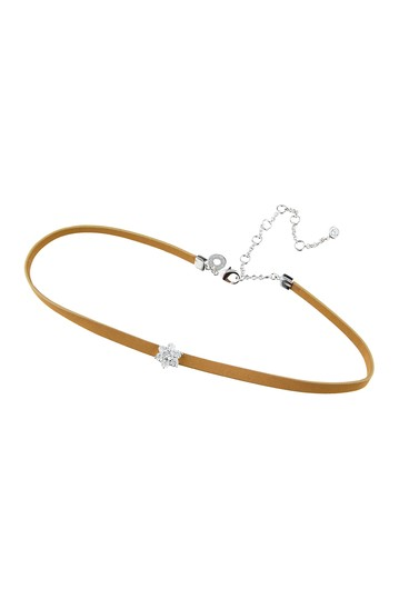 14K Gold Plated Cubic Zirconia Choker Necklace CZ By Kenneth Jay Lane