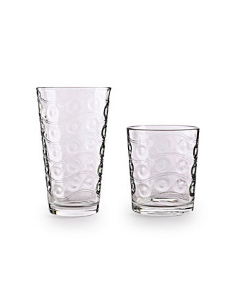 Cosmo Entertaining Glasses, Set of 12 Circle Glass