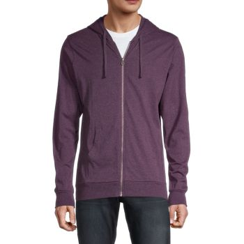 Full-Zip Cotton Hoodie Unsimply Stitched
