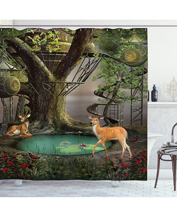 Nature Shower Curtain Ambesonne