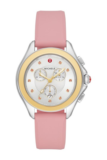 Women's Cape Pink Topaz Silicone Strap Watch, 40mm Michele