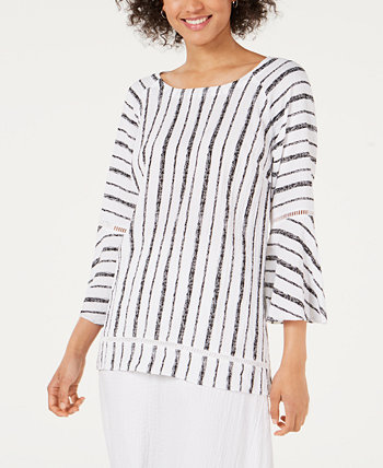 Bell-Sleeve Crinkle Top, Created for Macy's J&M Collection